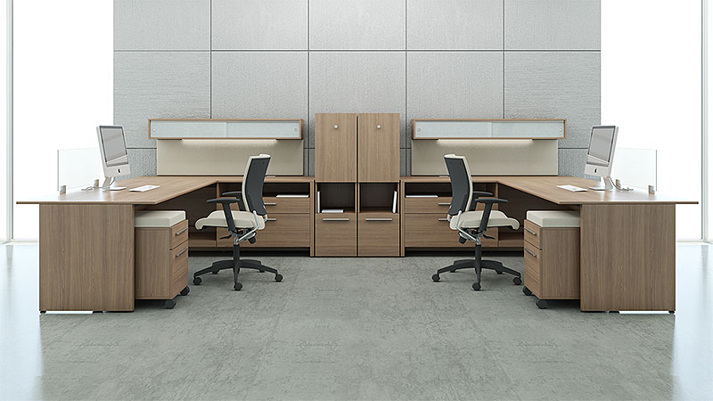 LEFT- AND RIGHT-HANDED L-SHAPE DESKS - Common Sense Office Furniture