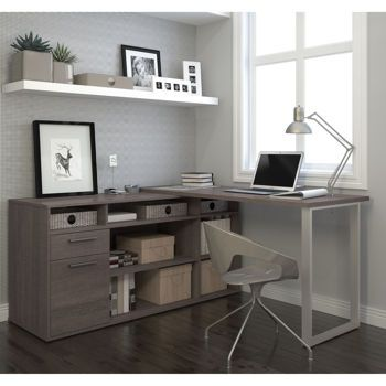 Solay L-Shaped Desk | Home office | Home office desks, Home office
