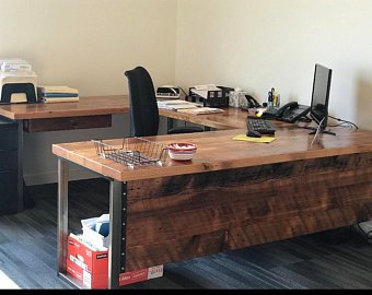 L shaped desk | Etsy