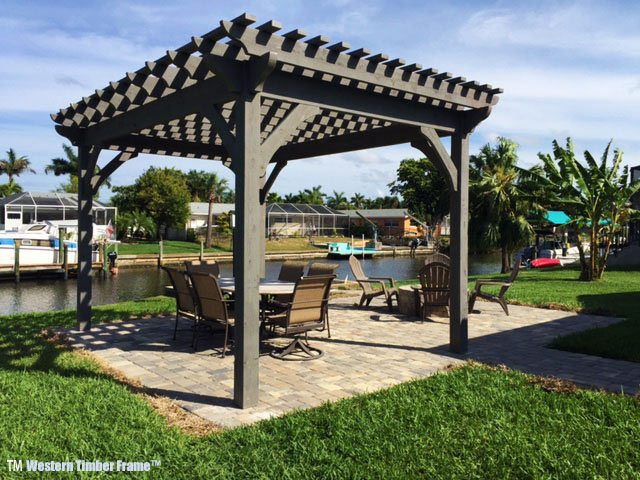 1 Afternoon 2 Florida Men Install Cedar DIY Pergola Kit | Western