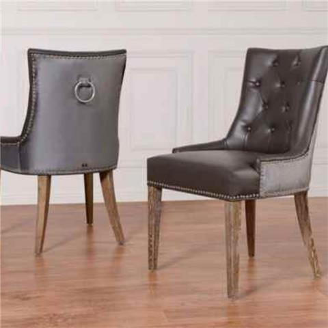 Hugo Leather Dining Chair Modern Chairs Throughout Contemporary