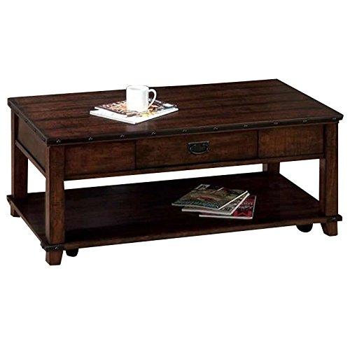 Amazon.com: Jofran Coffee Table in Cassidy Brown Finish: Kitchen