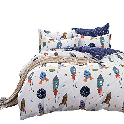 Amazon.com: Brandream Boys Galaxy Space Bedding Set Twin Size Kids