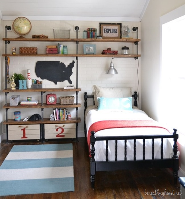 Fantastic Ideas for Organizing Kid's Bedrooms | The Happy Housie