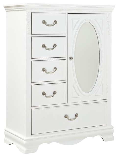 Standard Furniture Jessica 5-Drawer Kids' Wardrobe in White