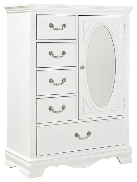 Standard Furniture Jessica 5-Drawer Kids' Wardrobe in White