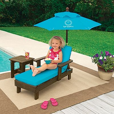 Sun Smarties Kids Chaise Outdoor Furniture Set | OneStepAhead.com