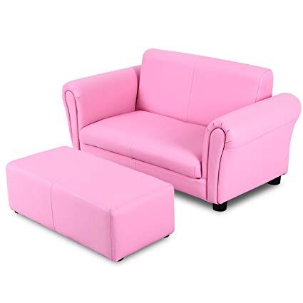 Amazon.com: Costzon Kids Sofa Set 2 Seater Armrest Children Couch
