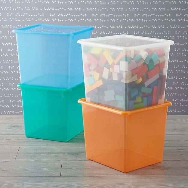 Kids' Storage Containers: Kids Colorful See-Through Stackable Box