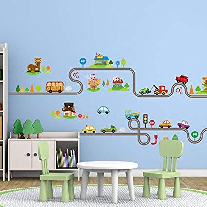 Amazon.com: Amaonm Removable Cute Cartoon Kids Room Wall Decal DIY