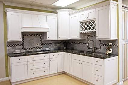 Amazon.com: All Wood Kitchen Cabinets (10 x 10 Kitchen) (Shaker