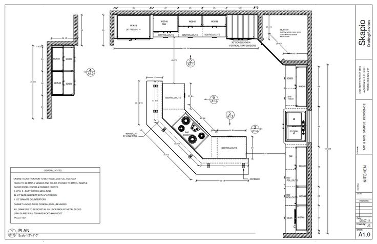 Sample Kitchen Floor Plan | Shop Drawings in 2019 | Kitchen floor