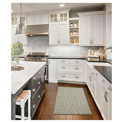 Tan Medallion Kitchen Rugs - Threshold™ : Target