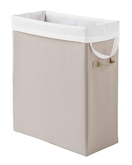 Neatfreak Slim Space-Saving Laundry Hamper,Beige