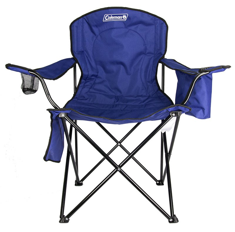Coleman Camping - Lawn Chair w/Built-In Cooler And Cup Holder, Blue