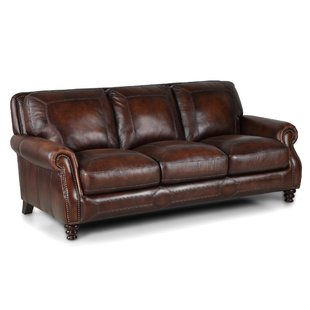 Caramel Leather Sofa | Wayfair