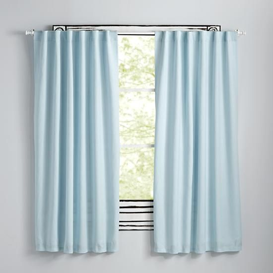 Fresh Linen Curtains (Light Blue) | The Land of Nod | Ryan in 2019