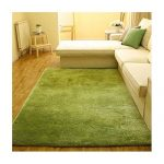 Lime green rugs to create an   artificial look