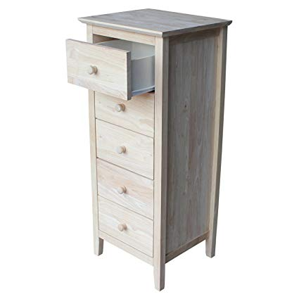 Amazon.com: International Concepts Lingerie Chest with 5 Drawers