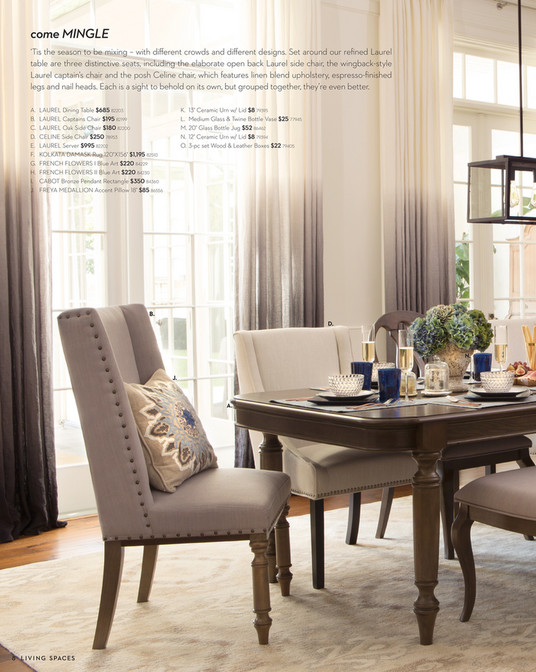 Living Spaces - Product Catalog - November 2015 - Laurel Captains Chair