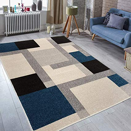 Amazon.com: Prestige Decor Area Rugs 5x7 Living Room Rug Carpet Blue