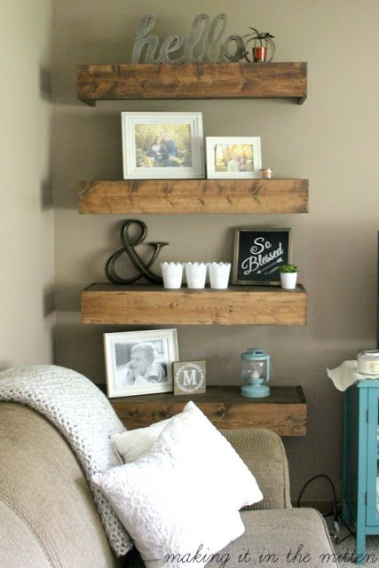 DIY Wood Shelves | H O M E | Diy wood shelves, DIY Home Decor, Home