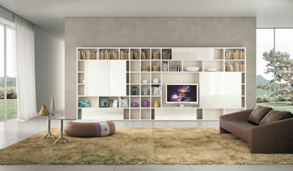 15 Fascinating Modern Living Room Shelves for Any Contemporary Home