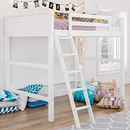 Amazon.com: Dorel Living DA8237W Denver Loft Bed Full White: Kitchen