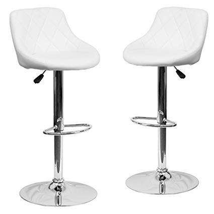 Amazon.com: Belleze Set of (2) Modern Adjustable Bar Stool Bucket