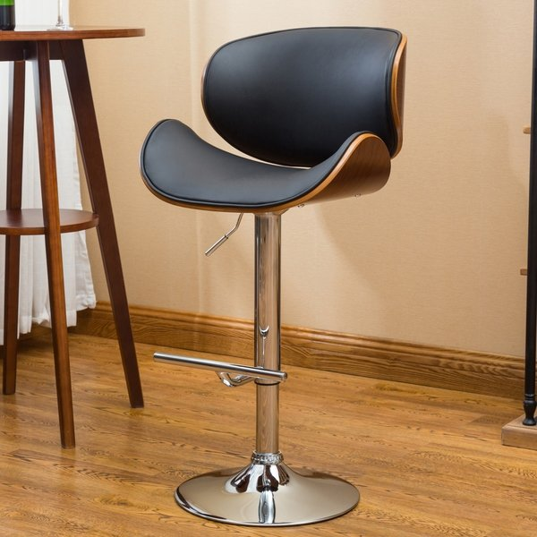 Shop Strick & Bolton Lega Modern Adjustable Swivel Barstool - On