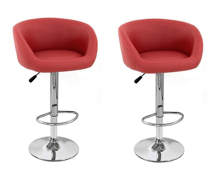 Isu Faux Leather Modern Adjustable Bar Stool (Set of 2)