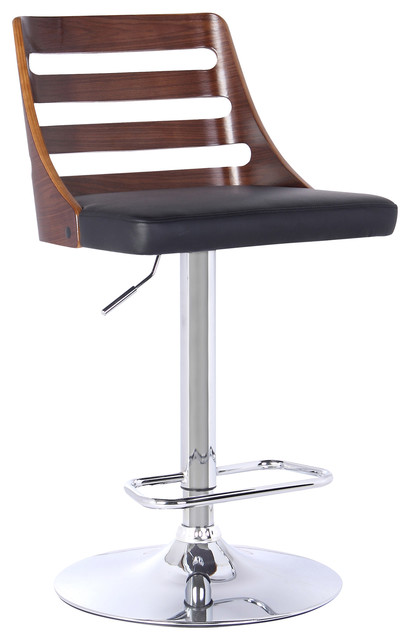 Storm Modern Adjustable Swivel Bar Stool - Contemporary - Bar Stools