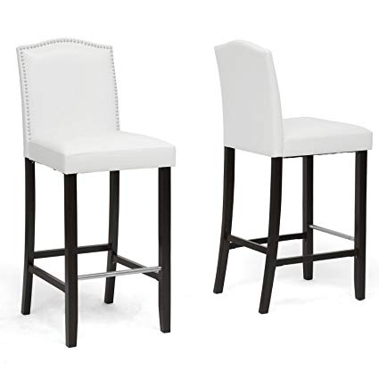 Amazon.com: Baxton Studio Libra Modern Bar Stool with Nail Head Trim