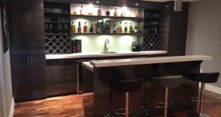 High Gloss Modern Basement Bar - Modern - Home Bar - Toronto - by