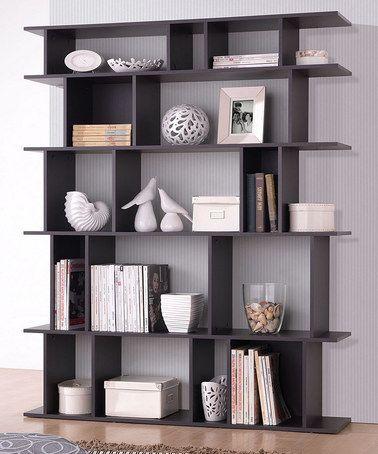 Love this Dark Brown Tilson Modern Bookcase by Baxton Studio on