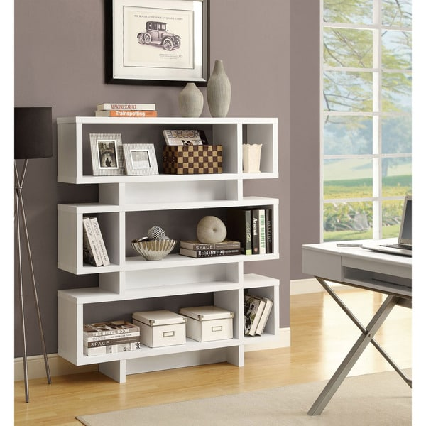Shop White 55-inch High Modern Bookcase - Free Shipping Today
