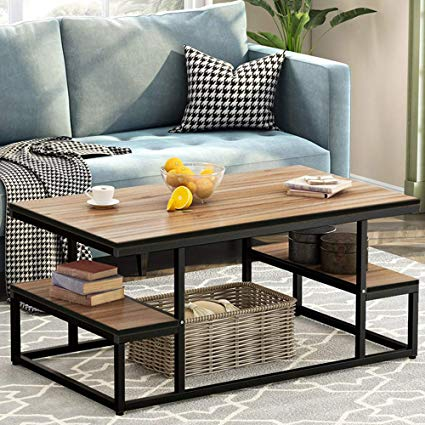Amazon.com: Tribesigns Modern Coffee Table, 48