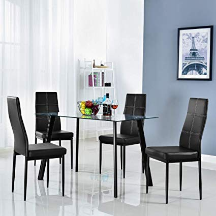Amazon.com - Bonnlo 5 Pieces Dining Set Modern Dining Table Set for