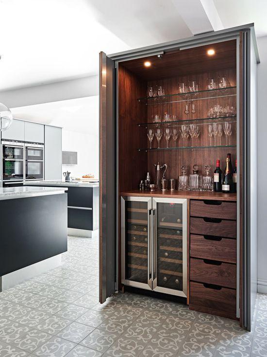 Modern hidden bar BilliardFactory.com | Interior Barn Doors in 2019