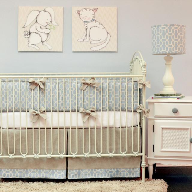 Doodlefish Peaceful Crib Bedding Set - Modern - Kids - Atlanta - by
