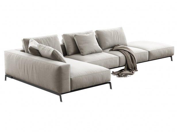 Ettore Modular Sofa 3d model | Flexform
