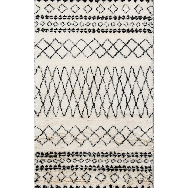 Rugsville Moroccan Beni Ourain Ivory 12185 Wool Rug 9x12, Rugsville.com