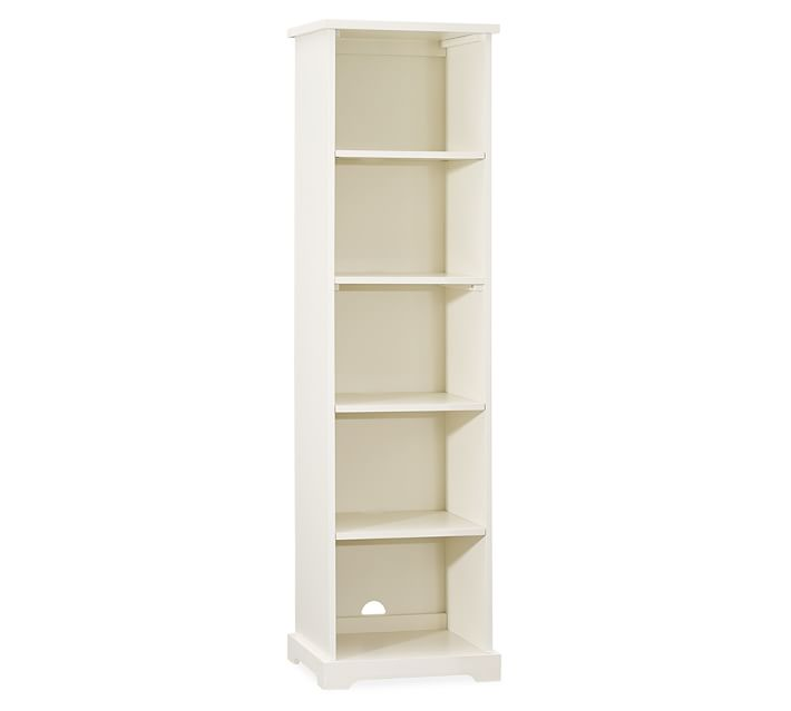 Samantha Narrow Bookcase, Antique White | Pottery Barn