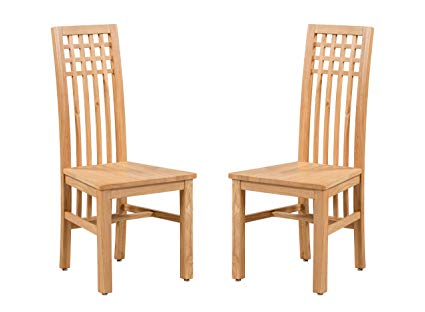 Amazon.com - Trithi Furniture - Creswell American Solid Oak Dining