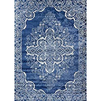 Amazon.com: Persian-Rugs 5529 Blue Oriental 8x10 Area Rug Carpet New
