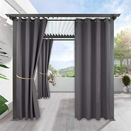 Amazon.com: RYB HOME Blackout Outdoor Curtains - Indoor Outdoor