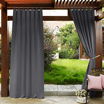 Amazon.com: PONY DANCE Grey Outdoor Curtains - Light Block