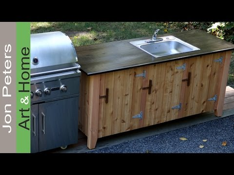 How to Build an Outdoor Kitchen Cabinet Part 2 - YouTube