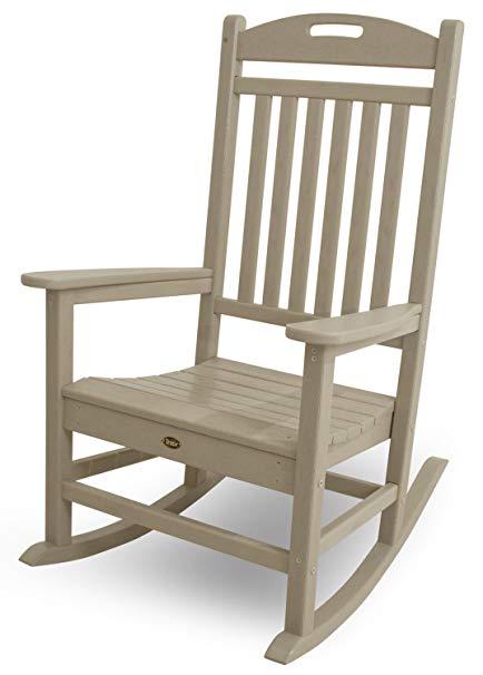 Amazon.com : Trex Outdoor Furniture Yacht Club Rocker Chair, Sand