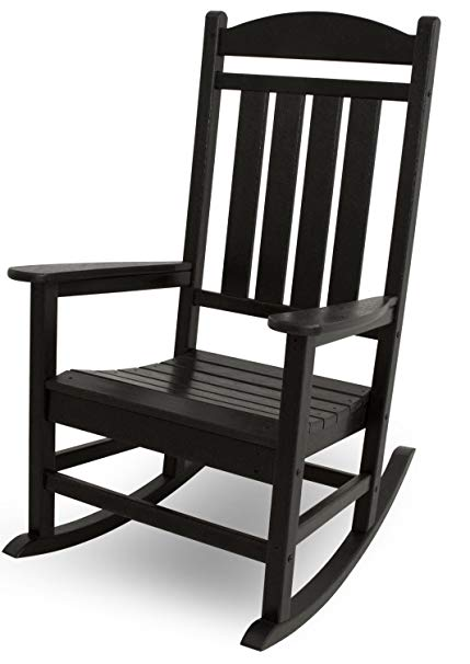 Amazon.com : POLYWOOD R100BL Presidential Outdoor Rocking Chair